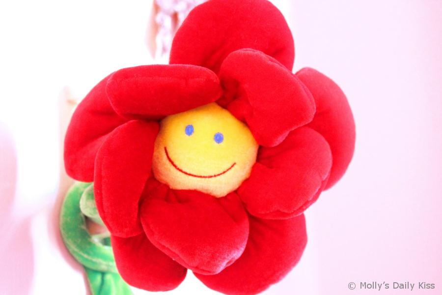 Happy smile flower face