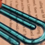 bookmark and macro shot of words
