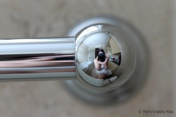 Reflection in the towel rail