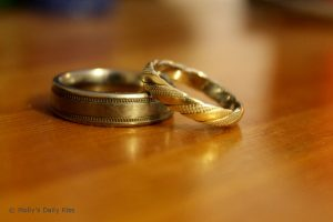 2 wedding rings his and hers wedding rings