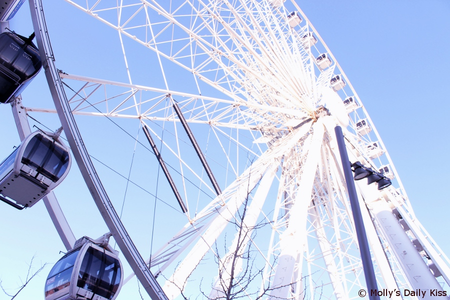 blue sky and the Liverpool eye