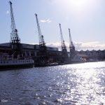 cranes in Bristol harbour