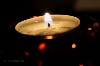macro shot of candle light
