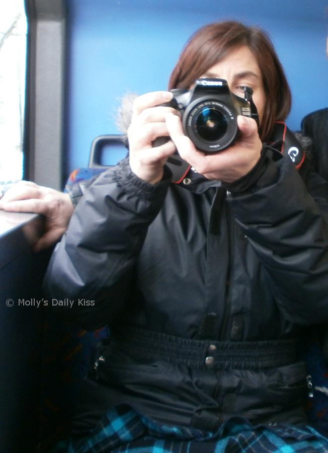 Mummy taking photograph of me