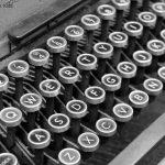 close up of old typewriter keys