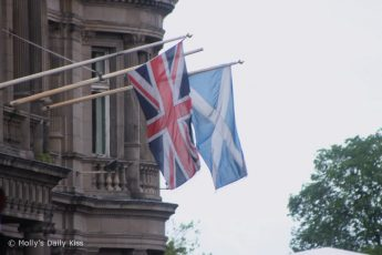 Union Jack & Scotish Flag flying side by side