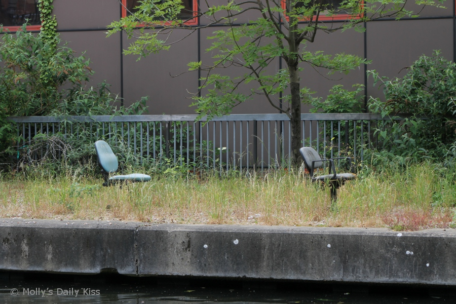 Office chairs out doors