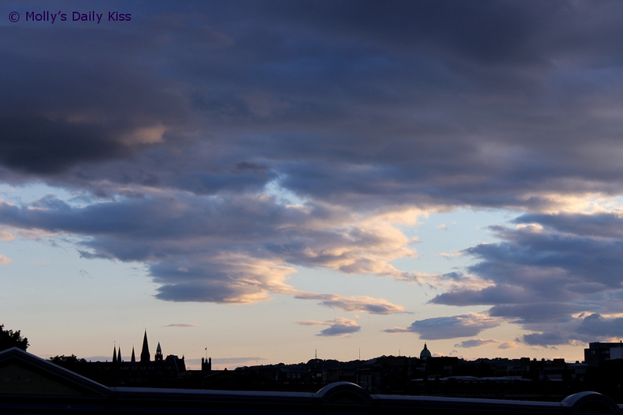 Stormy Clouds Over Edinburgh