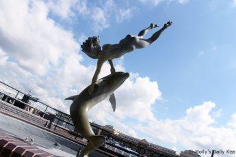 Girl With Dolphin by David Wynne