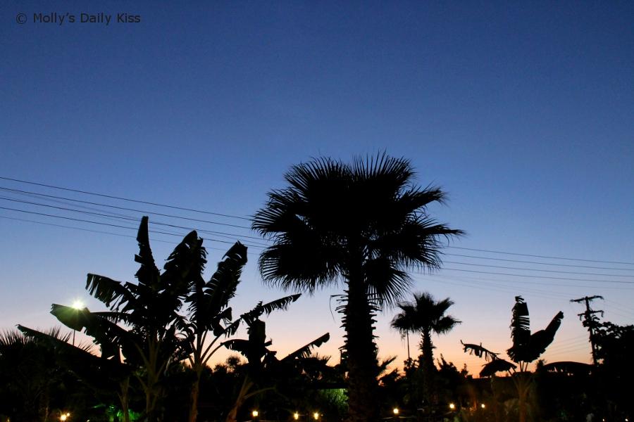dark blue sky in greece