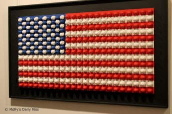 Stars and Stripes flad made out of moulds of a penis head
