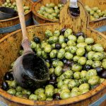 Green and black Olives at Borough Market