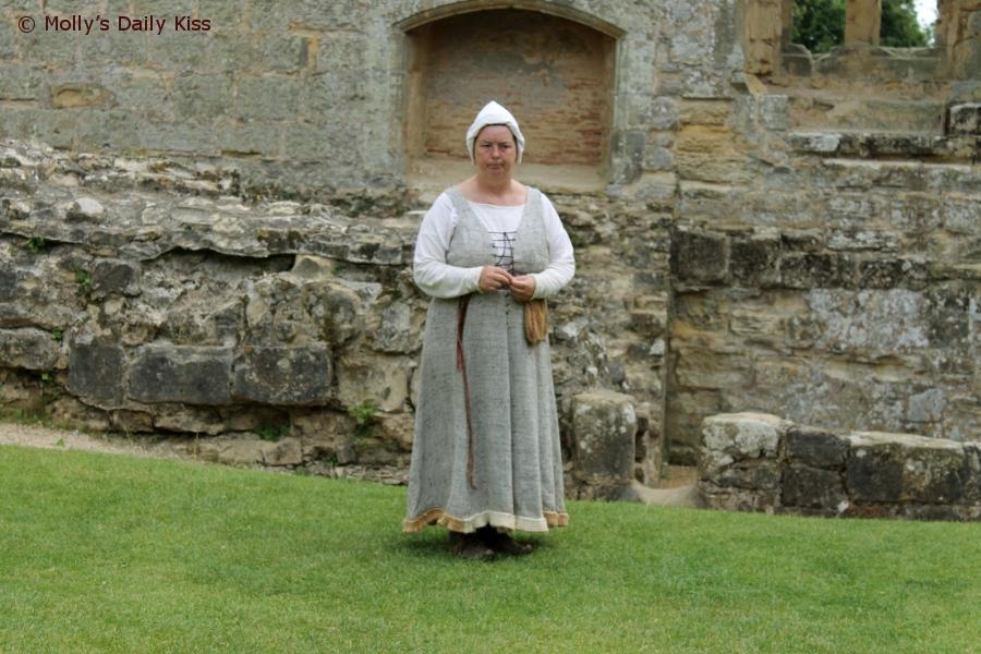 Castle guide at Bodiam Castle