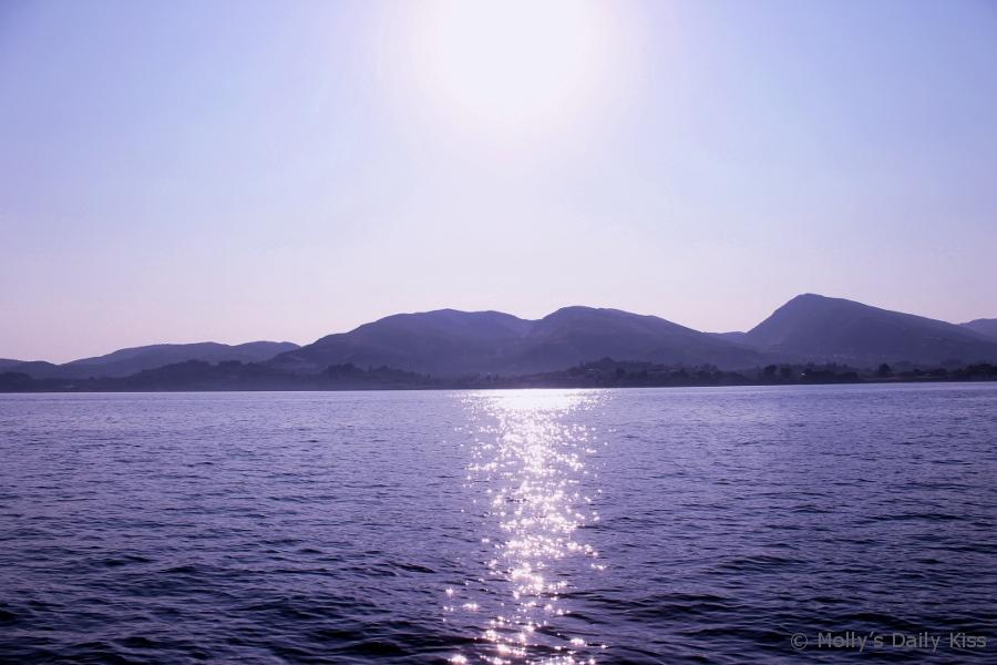 Sunlight reflecting on the Ocean