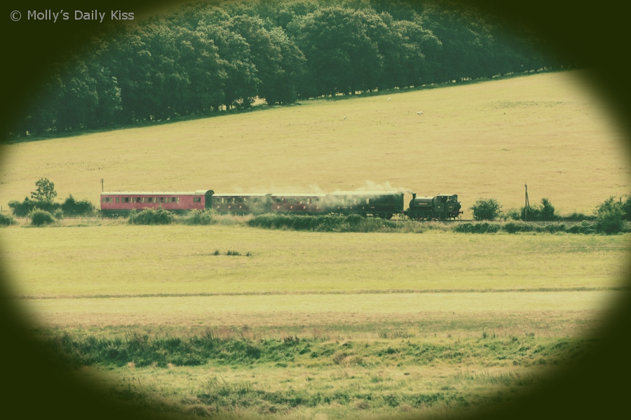 Steam train through Bodiam valley