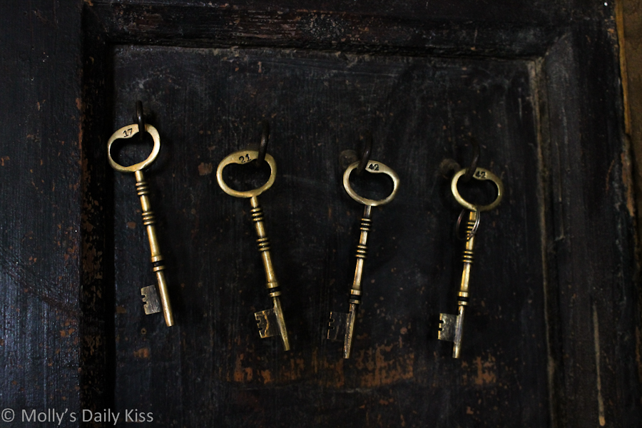 old keys on the wall at The Bell Inn Ticehurst