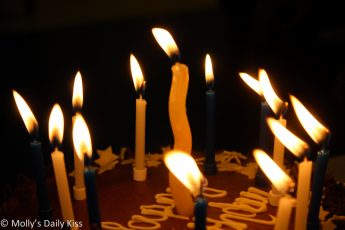 13 candles on birthday cake