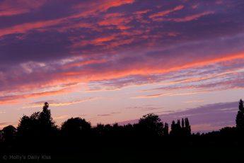 firy red orange sunset
