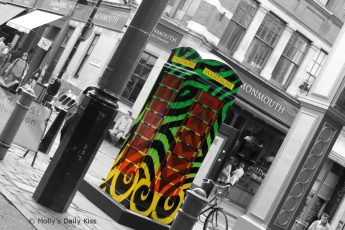 Inkie designed phone box in London