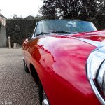Classic old style covertable Jaguar car