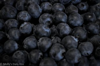 macro shot of blueberries