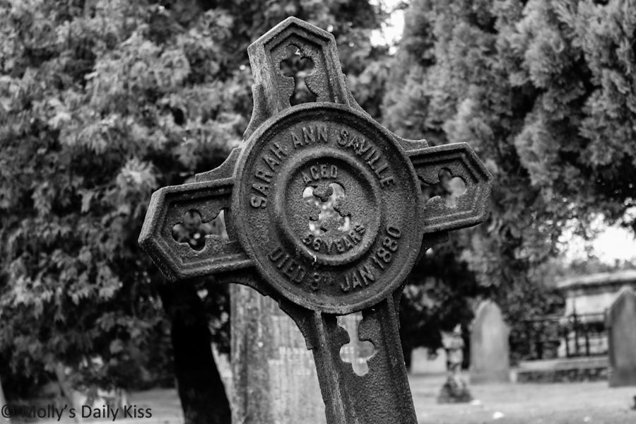 Cross on a grave in Hertford Heath