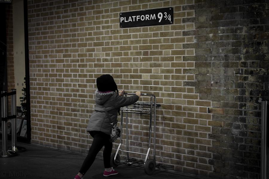 Platform 9 and 3/4 at Kings Cross Station