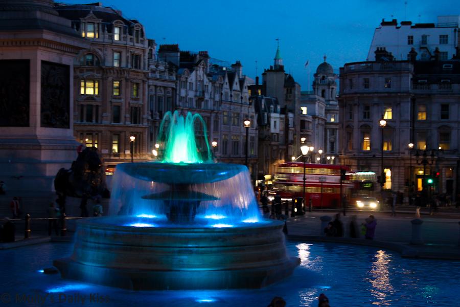 Fountains in Trafalgur Square