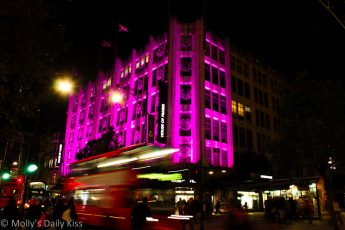 House Of Fraser at night In Oxford Street