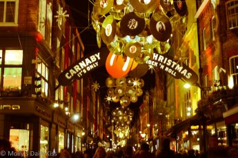Christmas Lights in Carnaby Street London