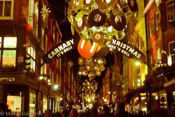 Christmas Lights in Carnaby Street London
