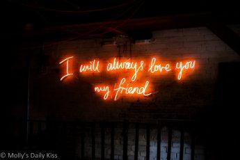 I will always love you my friend