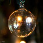 Macro shot of a Christmas glass bauble