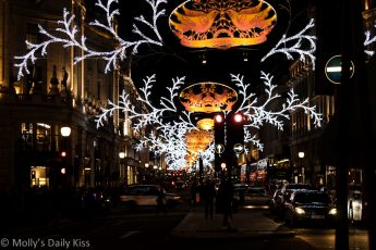 Christmas Lights in Regent Street London December 2012