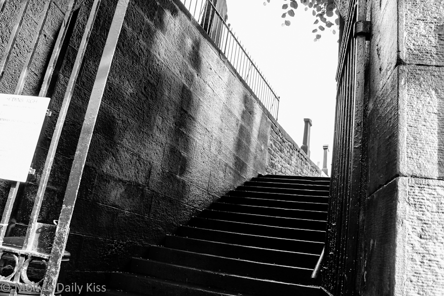 Steps into cemetary in Edinburgh
