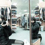 Double mirror self portrait