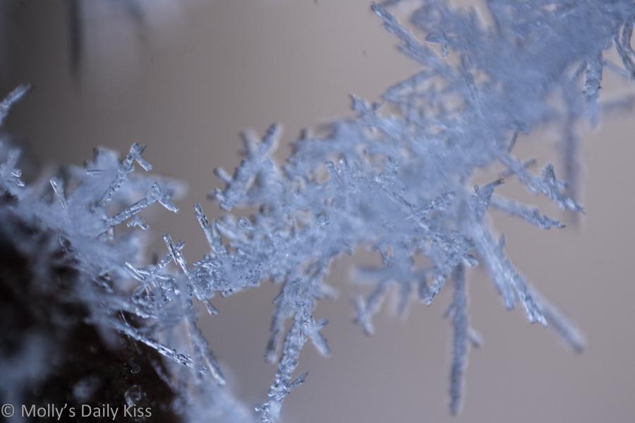 Super macro shot of ice crystals