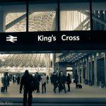 Kings cross station at night