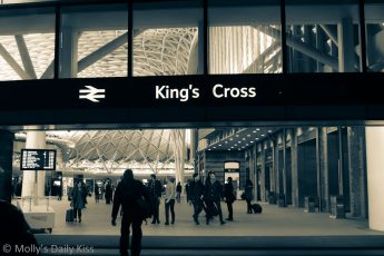 Kings cross station at night