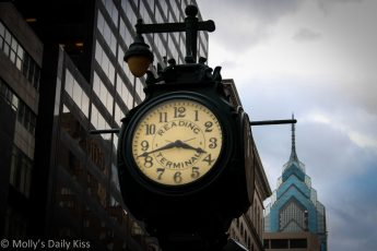 Reading Terminal Market clock Philadelphia