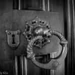 Large door handle on church door