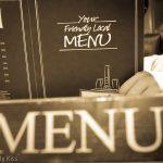 Menu in a restaurant
