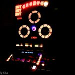 Slot machine in the dark