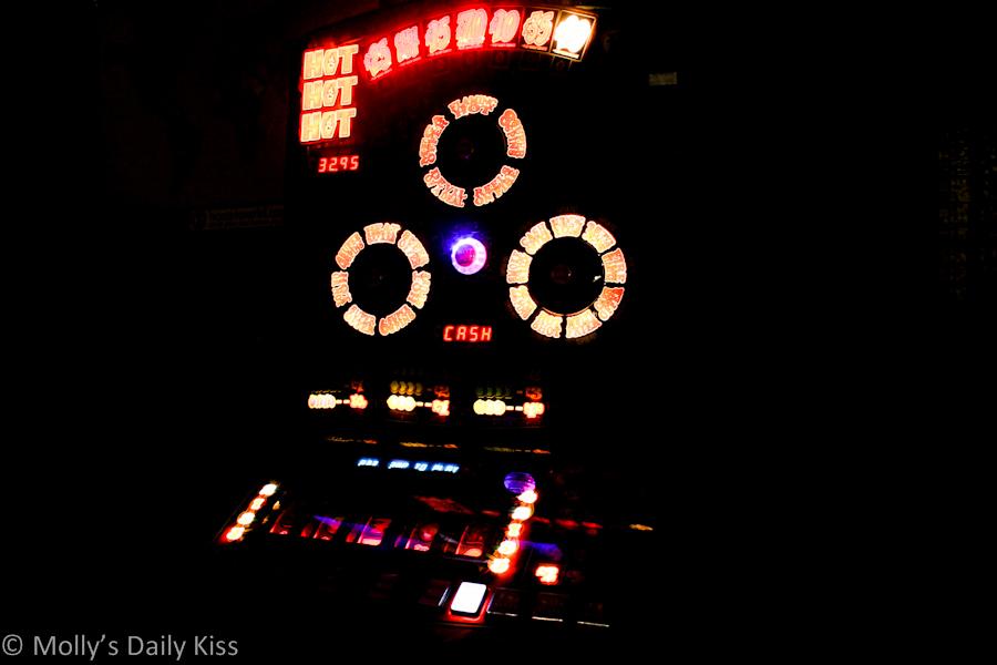 Slot machine in the dark