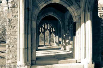 Cloisters at the church in Valley Forge, PA