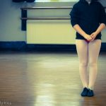 Young girl at dancing class