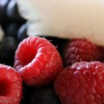macro shot of raspberrys