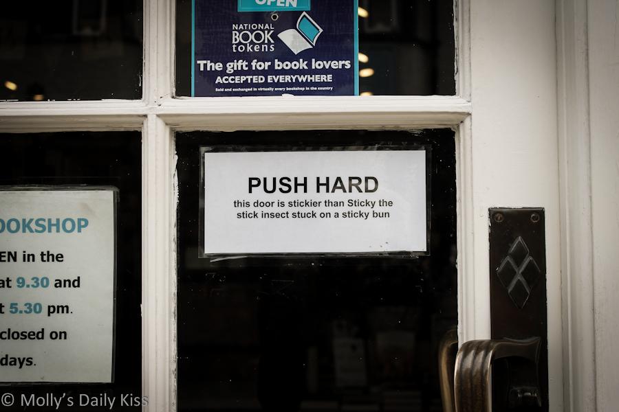funny door sign