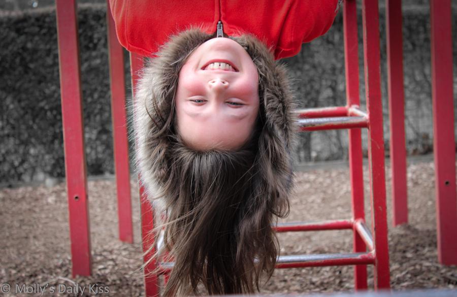 Upside down child