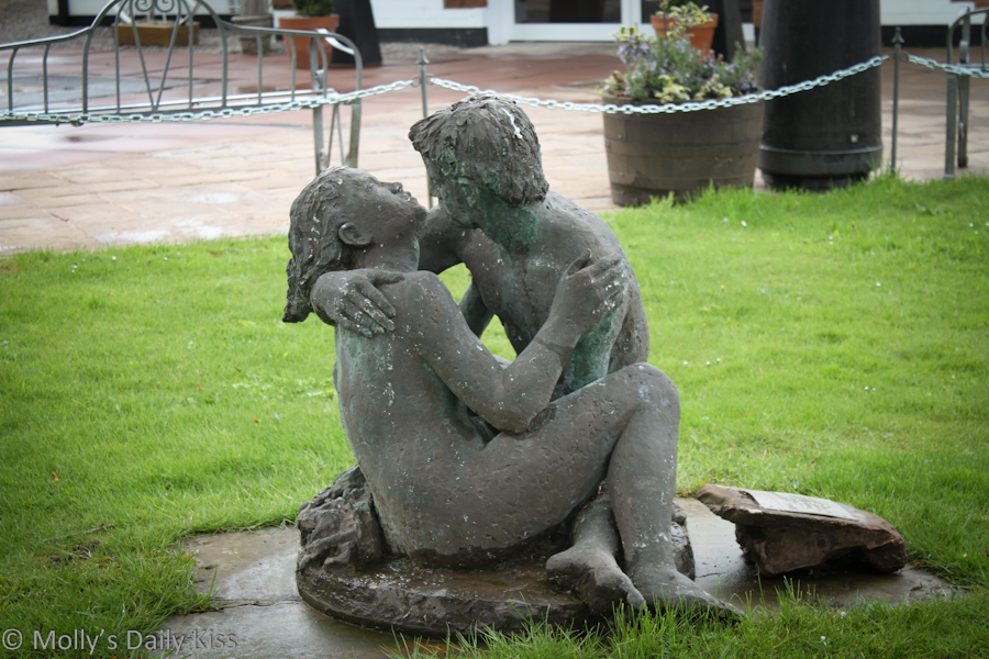 Kiss Statue at Gretna Green Old Blacksmights shop
